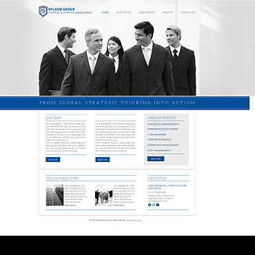 Financial Advisor Wix Website Template