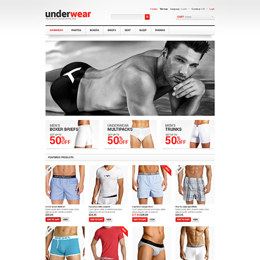 Men's Underwear Responsive PrestaShop Theme