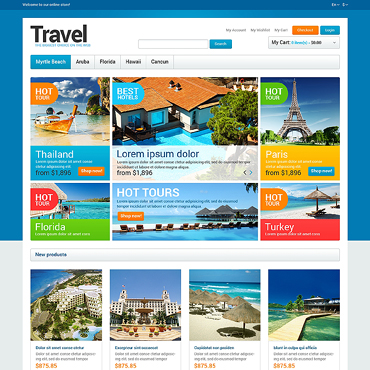 Travel Agency Responsive Magento Theme