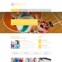 Volleyball Responsive Website Template