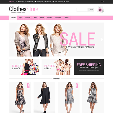 Woman Fashion OpenCart Template #47447