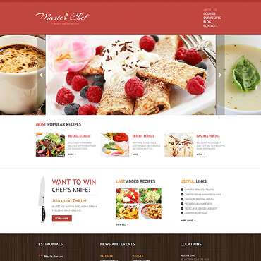 Cooking Responsive Joomla Template