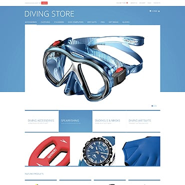 Diving VirtueMart Template