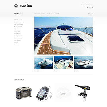 Yachting VirtueMart Template