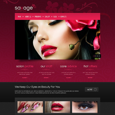 Beauty Salon Responsive Drupal Template