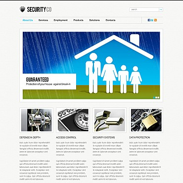 Security Flash CMS Template