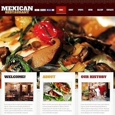 Mexican Restaurant Flash CMS Template
