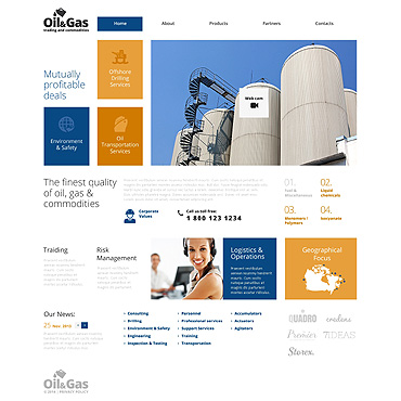 Gas & Oil Responsive Website Template