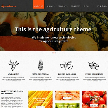 Vegetable Moto CMS HTML Template