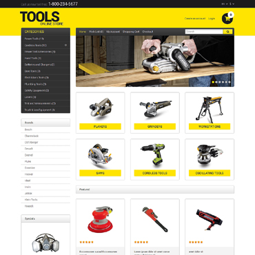 Tools & Equipment Responsive OpenCart Template