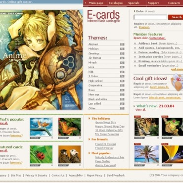 E-cards Website Template