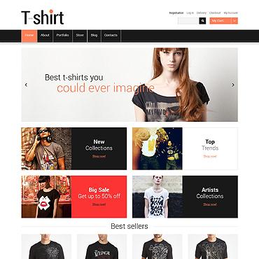 T-shirt Shop Responsive Jigoshop Theme