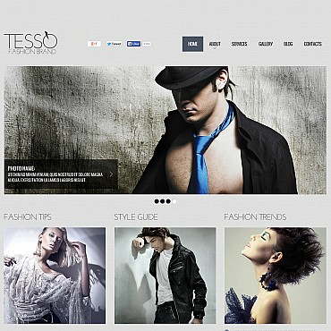 Fashion Blog Flash CMS Template