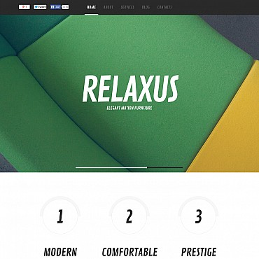 Furniture Flash CMS Template