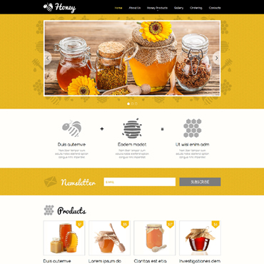 Honey Store Responsive Website Template