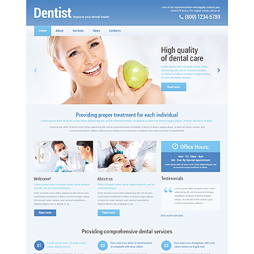 Dentistry Responsive WordPress Theme #48295