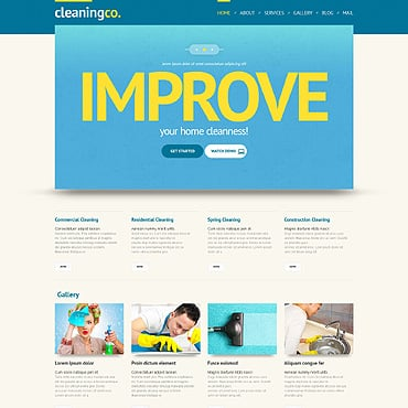 Cleaning Responsive WordPress Theme