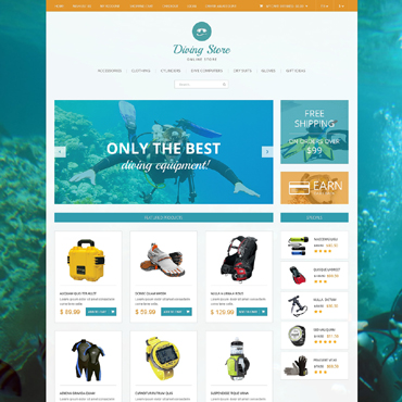 Diving Responsive OpenCart Template