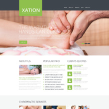 Massage Salon Responsive Website Template