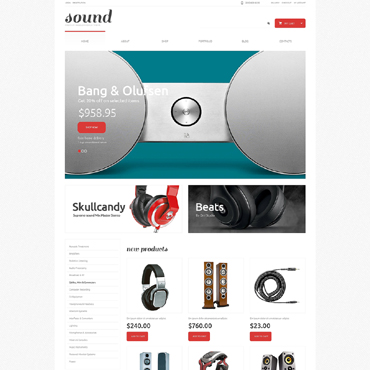 Audio Store Responsive WooCommerce Theme