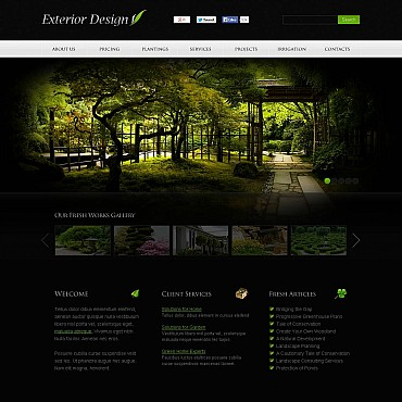 Exterior Design Flash CMS Template