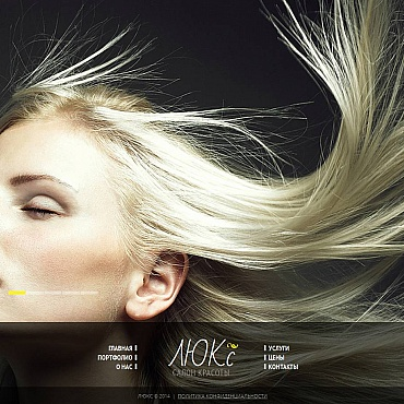 Beauty Salon Moto CMS HTML Template Ru