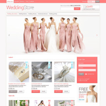 Wedding Shop VirtueMart Template