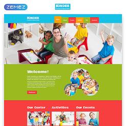 Kids Center Responsive Website Template