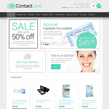 Optometrist's VirtueMart Template