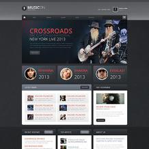 Music Portal Drupal Template
