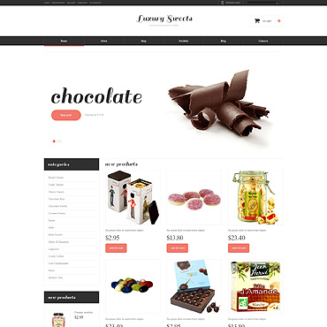 Sweet Shop Responsive Jigoshop Theme