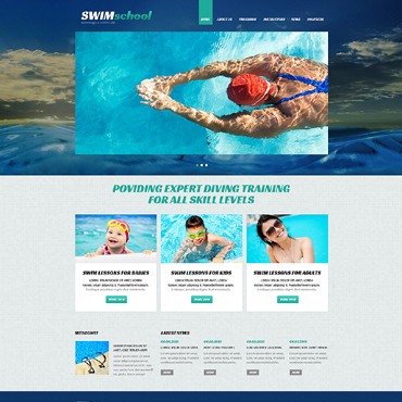 Swimming School Responsive Joomla Template