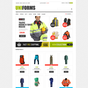 Fire Department VirtueMart Template