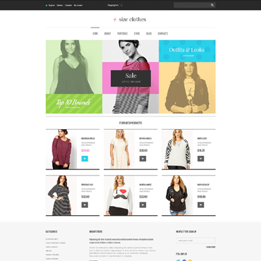 Apparel Responsive Jigoshop Theme
