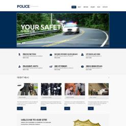 Police Responsive WordPress Theme