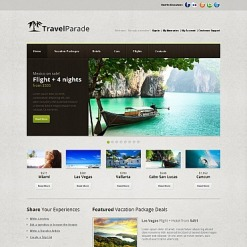 Travel Guide Moto CMS HTML Template