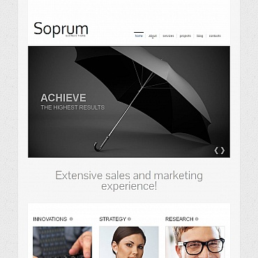 Marketing Agency Moto CMS HTML Template