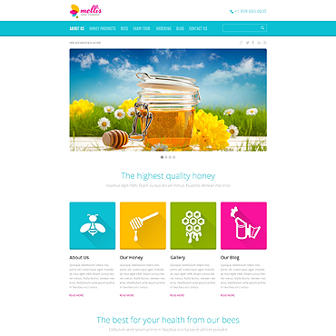 Honey Store Responsive WordPress Theme