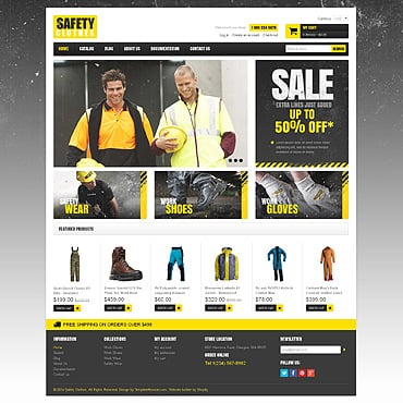 Security Responsive Shopify Theme