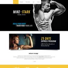Bodybuilding Responsive Website Template
