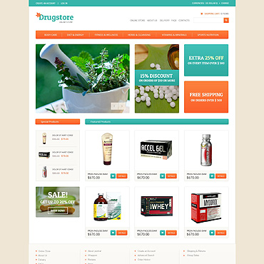 Drug Store VirtueMart Template