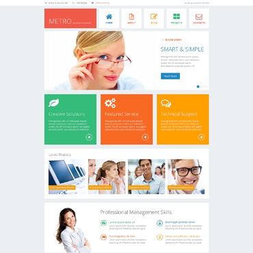 Financial Advisor Drupal Template #48975