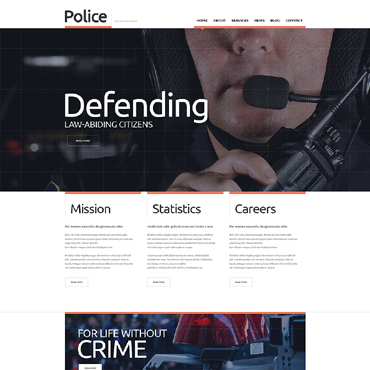 Police Responsive Website Template