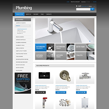 Plumbing VirtueMart Template