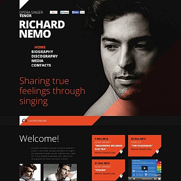 Personal Page Flash CMS Template