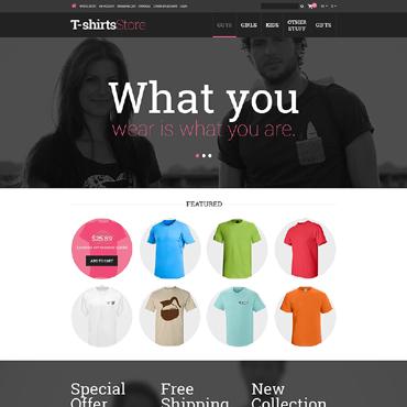 T-shirt Shop Responsive OpenCart Template