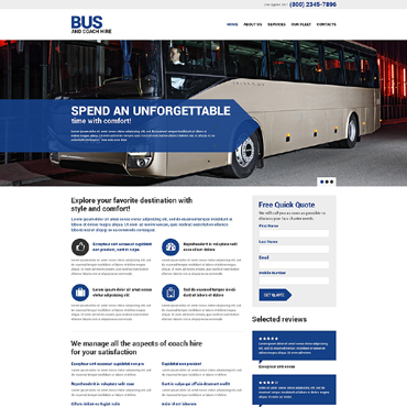 Transportation Responsive Website Template
