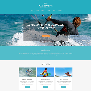 Wakeboarding Drupal Template