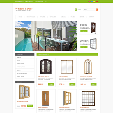 Windows & Doors OsCommerce Template