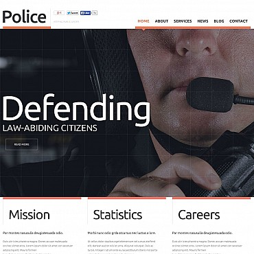 Police Flash CMS Template